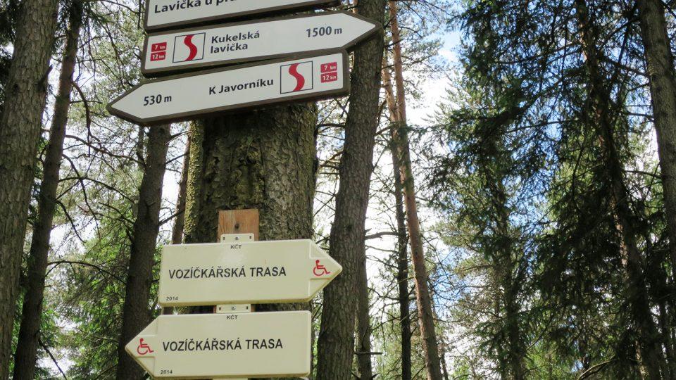 U pramenů řeky Svitavy - turistický rozcestník