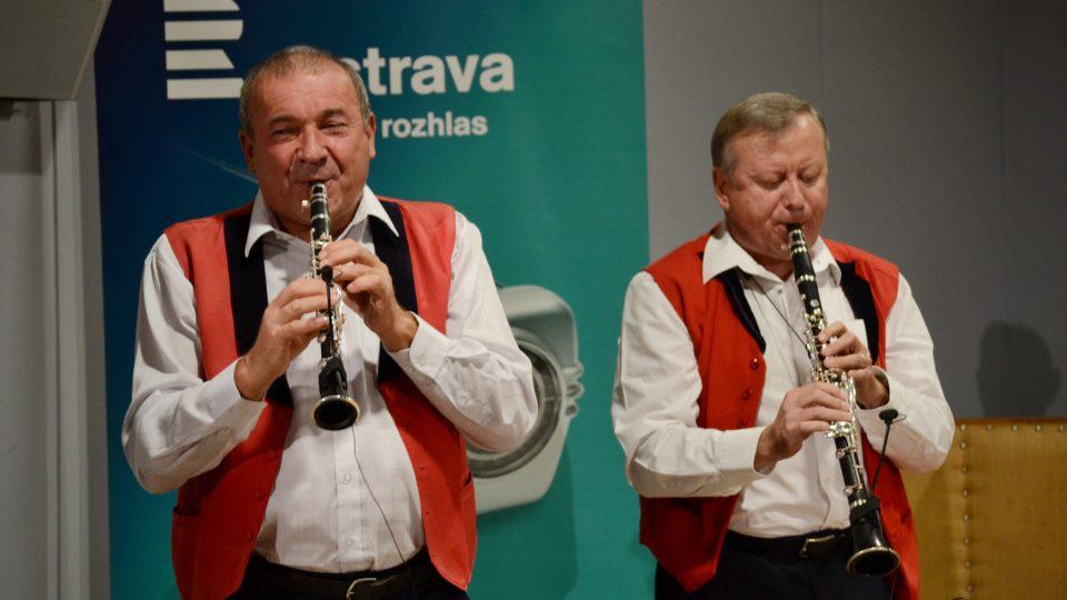 Josef Kolář, klarinet Es a Stanislav Pavlíček, klarinet B