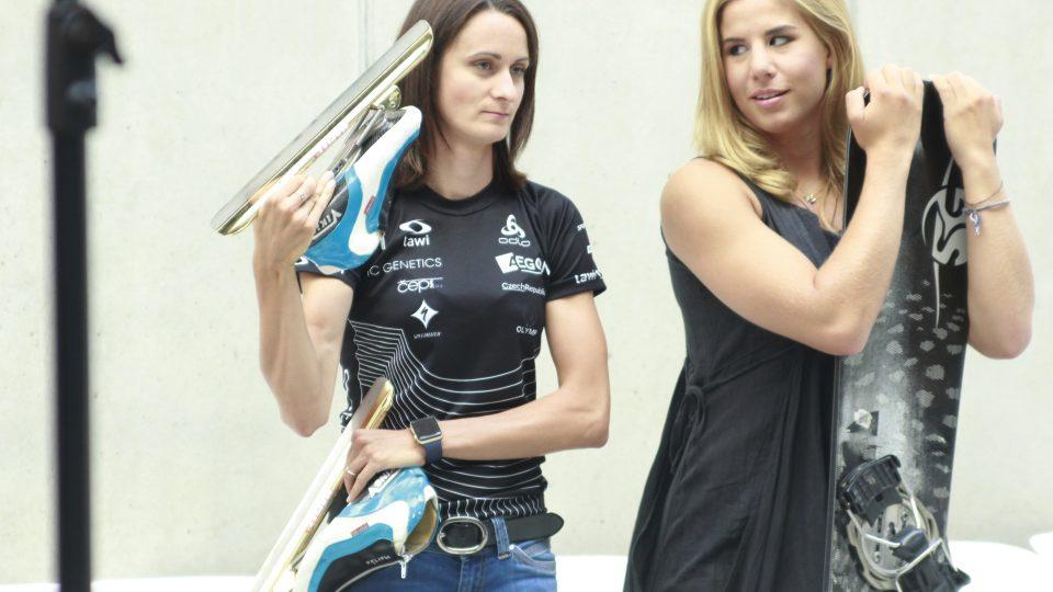 Martina Sáblíková a Ester Ledecká