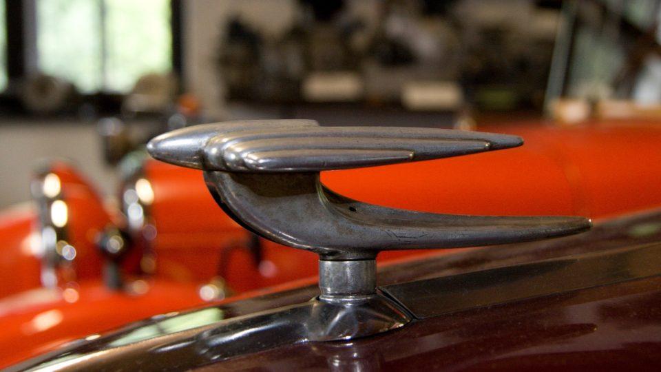 Detail vozu Jawa Minor