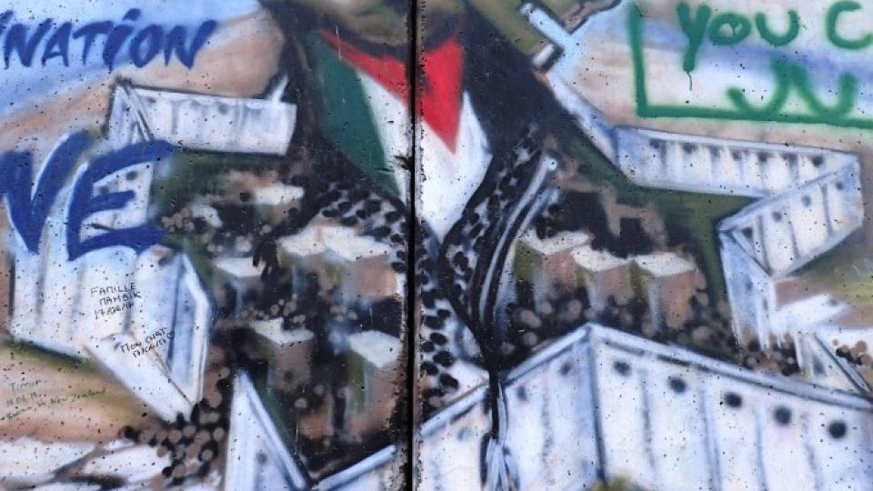 Pro Palestince je zeď symbolem izraelského útlaku