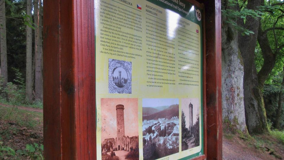 O historii místa informuje panel