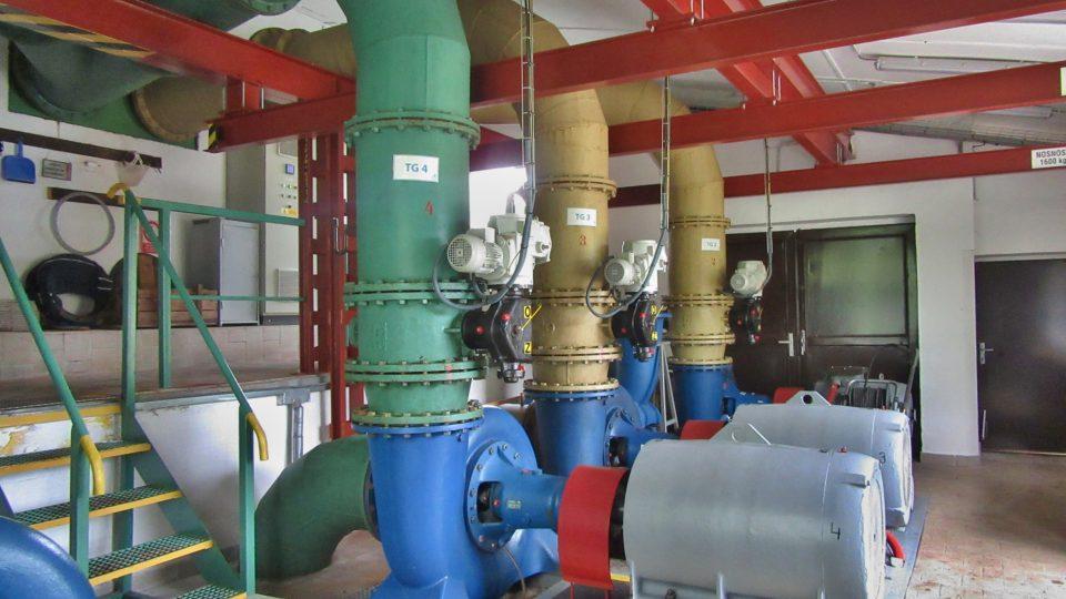 Součást malé vodní elektrárny