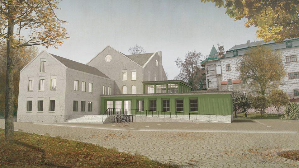 Vítězný návrh rekonstrukce mlýna