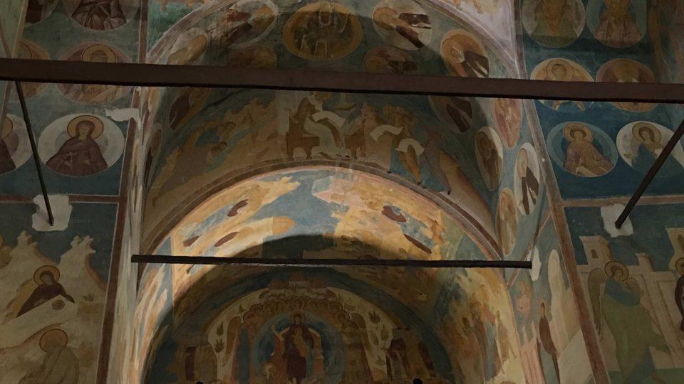 Interiér kostela Narození Bohorodičky