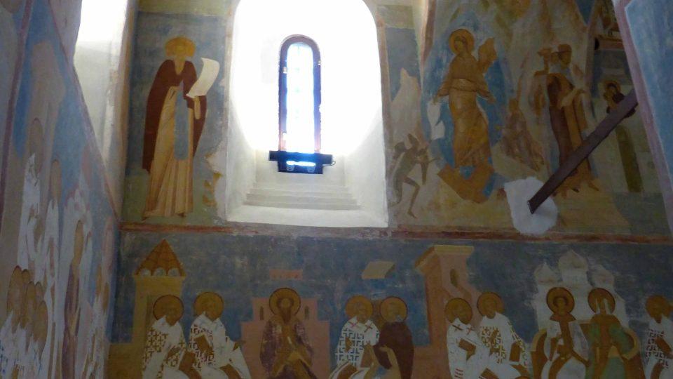 Fresková výzdoba chrámu Narození Bohorodičky