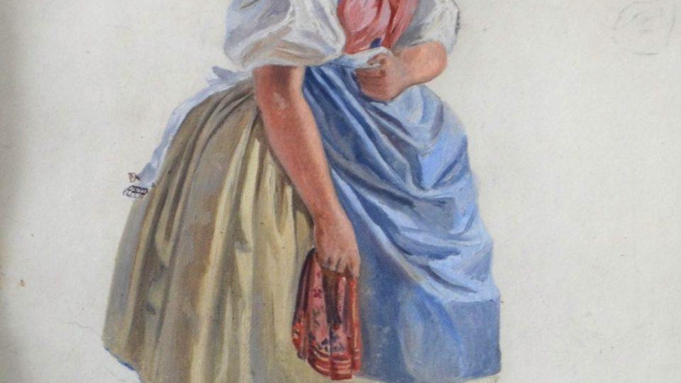 Přípravné skici pořízené Václavem Kroupou v Plzni a okolí v roce 1847. Tato série skic představuje nejstarší podrobné zobrazení plzeňského kroje.