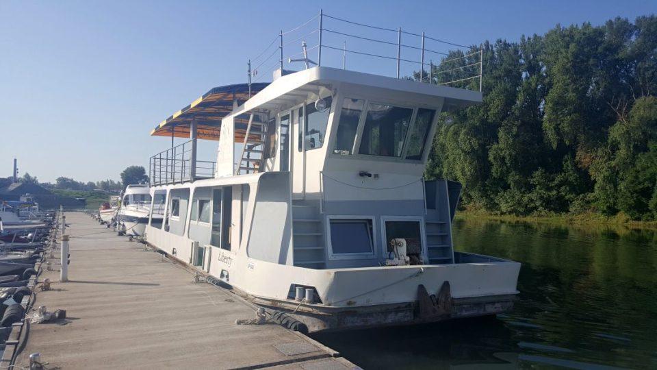 Liberlanská loď Liberty na které jsme nocovali - Srbsko