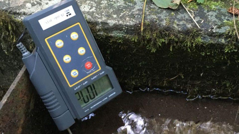 Měření teploty vody