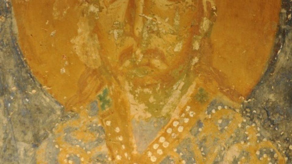 Svatý Václav na čerstvě odkryté fresce v chrámu polockého kláštera