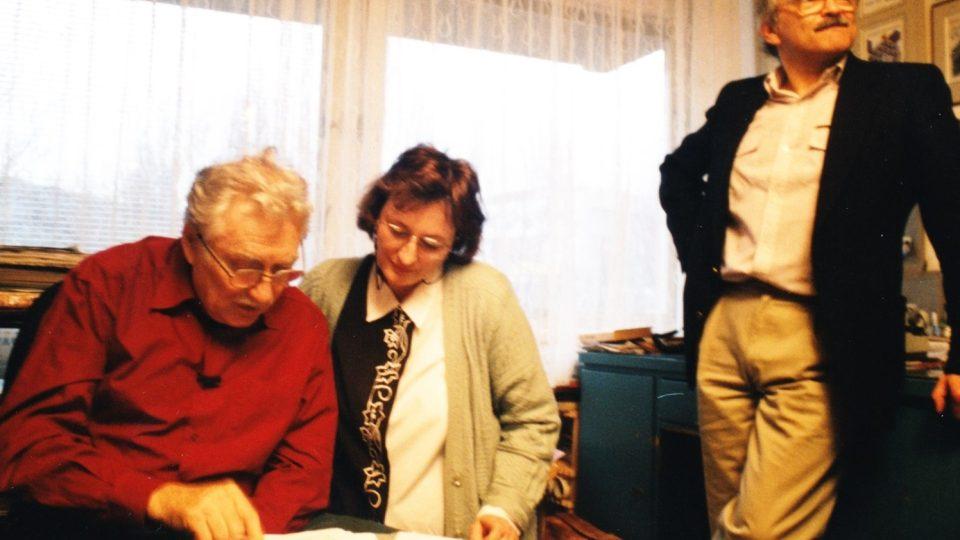Miroslav Ivanov a autorka dokumentu Bronislava Janečková