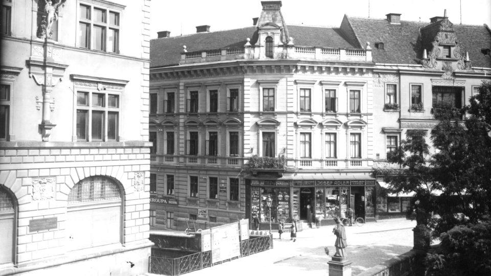 Dům Adlerových v Široké ulici před válkou