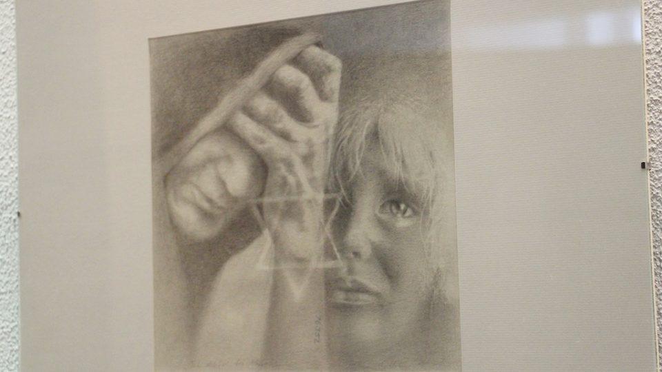 Vernisáž výstavy obrazů kreslíře Karla Pavlíka v budově Českého rozhlasu České Budějovice