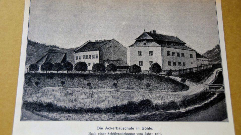 Rolnická škola v Novém Jičíně-Žilině v roce 1870