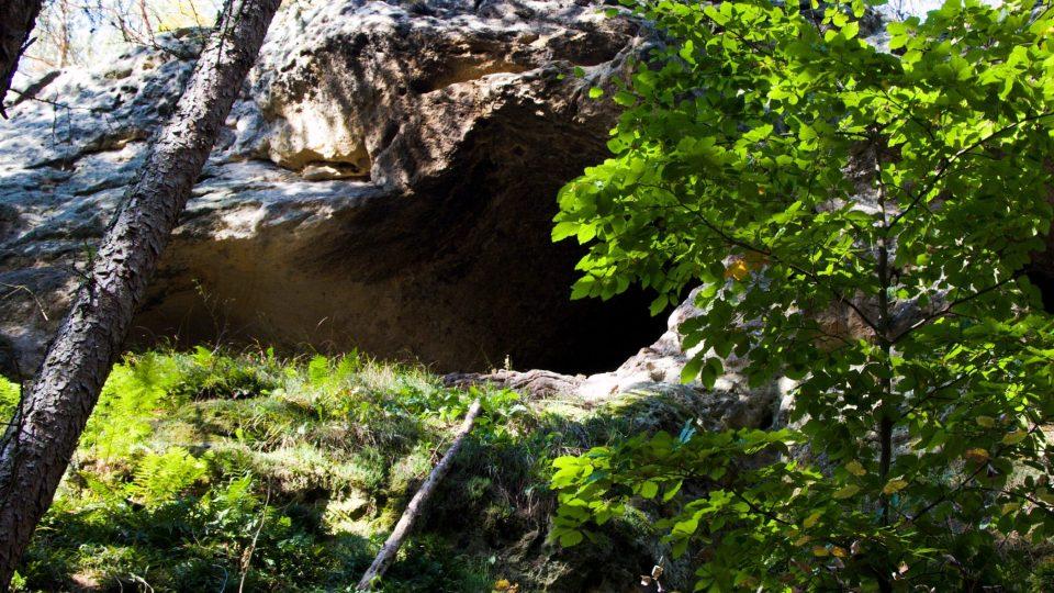 Jeskyně Psí kostel (zdola)