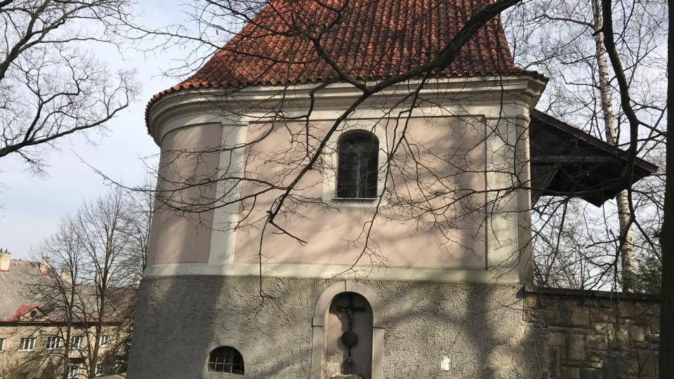 Současný stav kaple u kostela Nanebevzetí Panny Marie