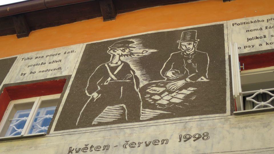 Sgrafita vytvořili absolventi restaurátorské školy v Litomyšli v roce 1998