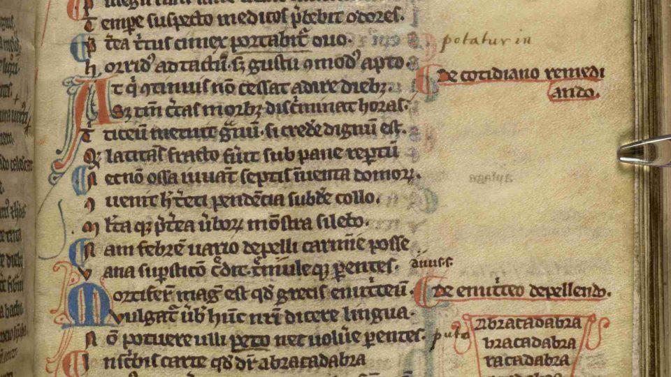 První zápis abrakadabra, vpravo dole.jpg