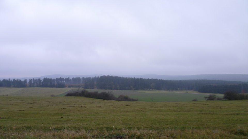 Výhled směrem na Znojemsko