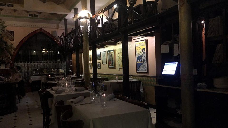 Interiér nejslavnější barcelonské restaurace