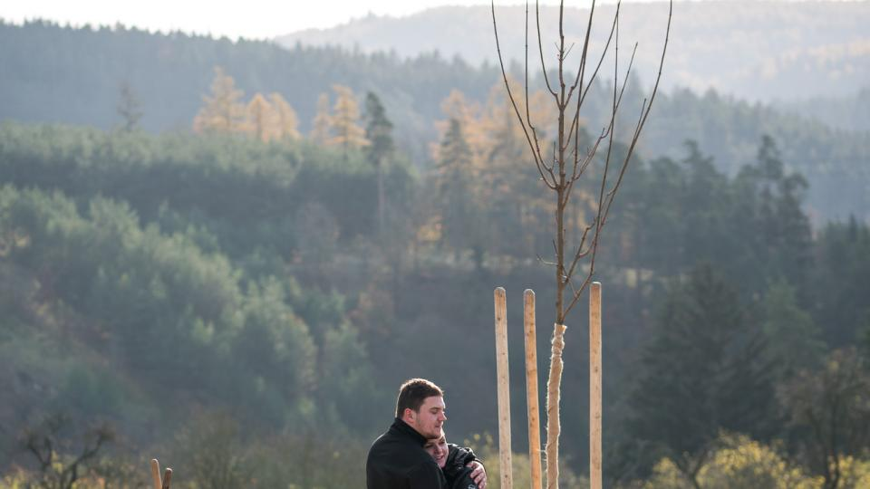 Číměř, sázení stromů