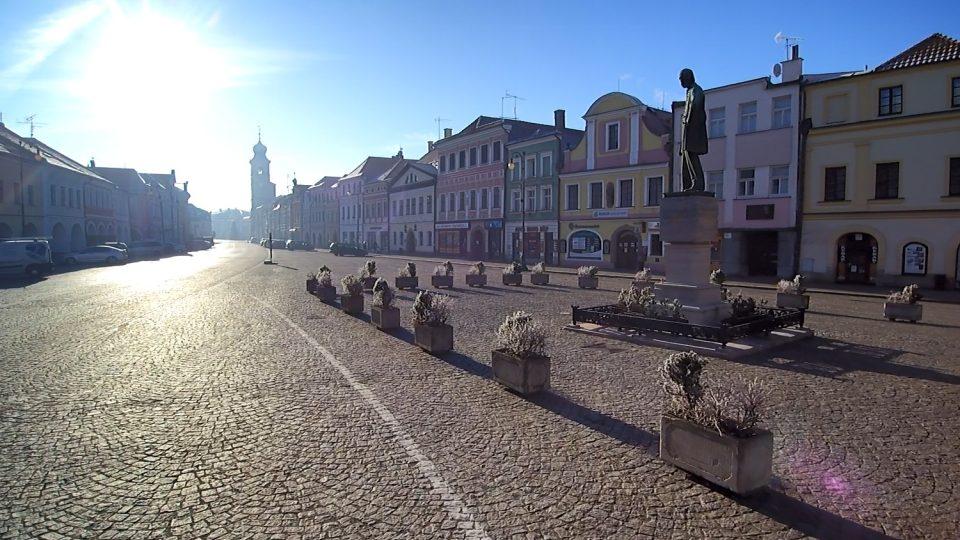 Pohled na Smetanovo náměstí v Litomyšl
