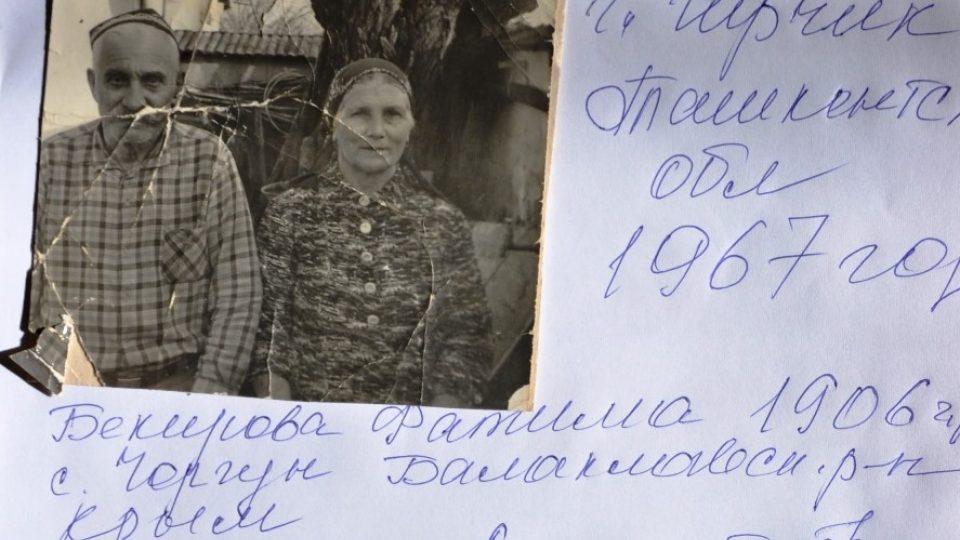Prarodiče Gulnary Bekirové v taškentském vyhnanství
