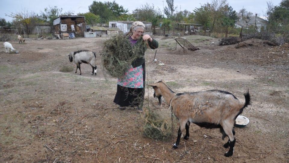 Život v krymskotatarské vesnici v Geničevském okresu