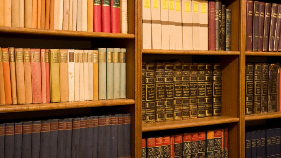 Část knihovny manželů Scheybalových