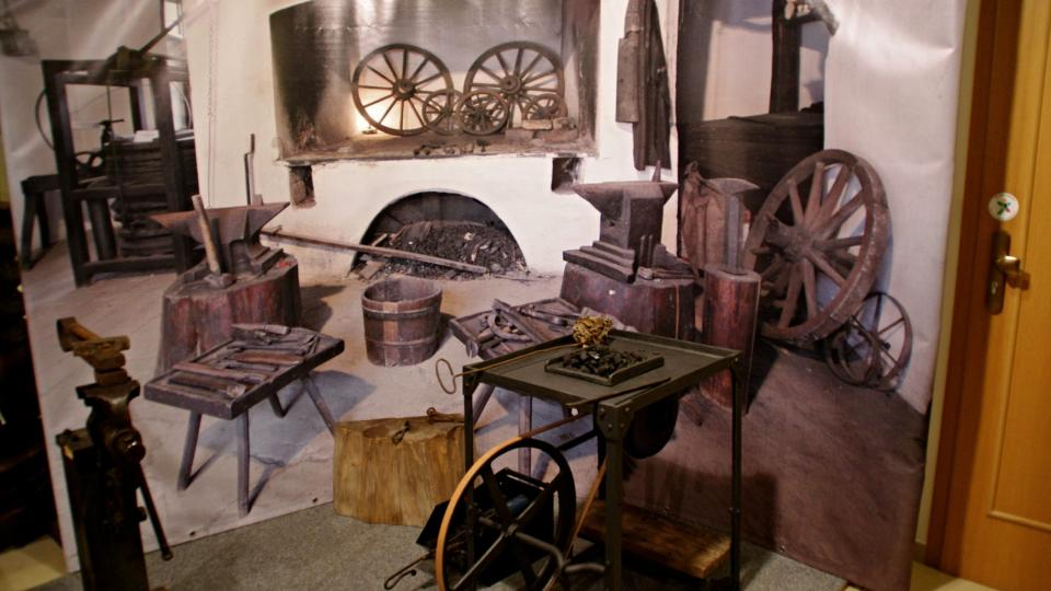 Interiér kovárny podle staré provozovny v Těšanech