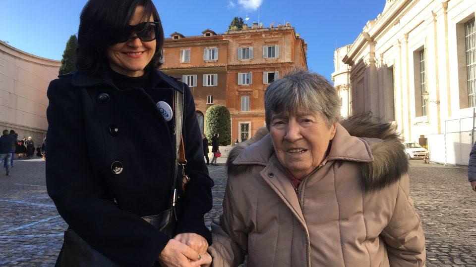 Paní Jarmila na generální audienci u papeže