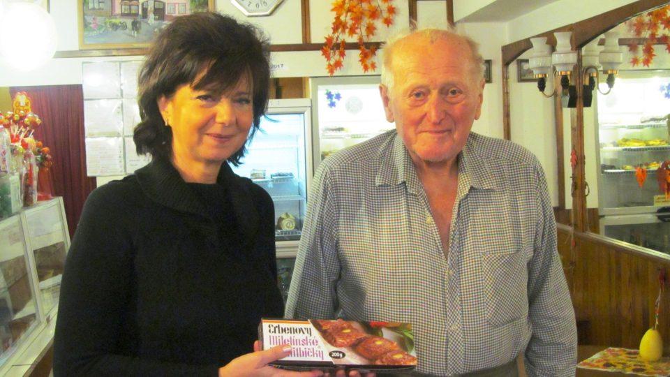 Redaktorka Zdeňka Kabourková a Karel Erben