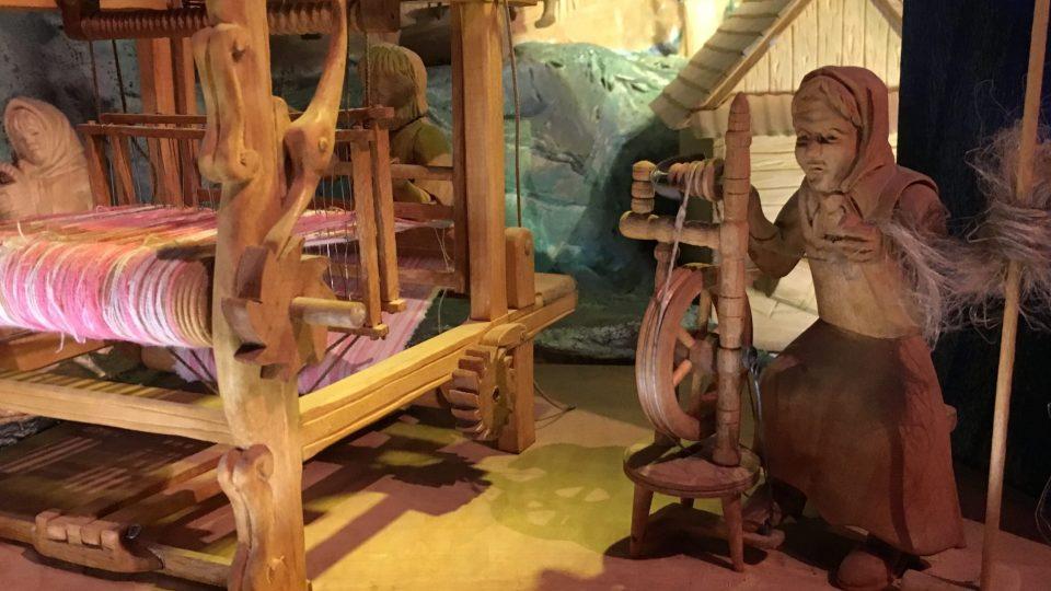Dřevěný pohyblivý betlém v Horní Lidči