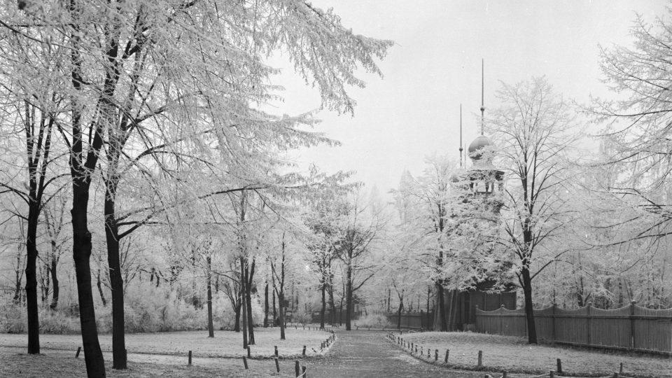 Plzeň - Střelnice v zimě