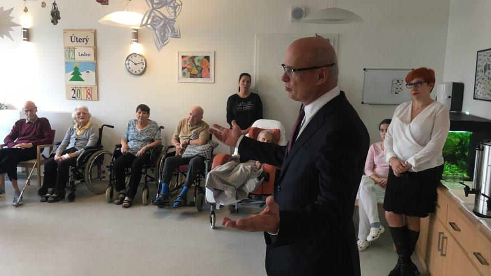 Den s Michalem Horáčkem začal v Domě u Agáty