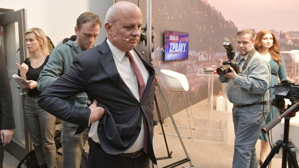 Michal Horáček na diskusi prezidentských kandidátů v Blesku