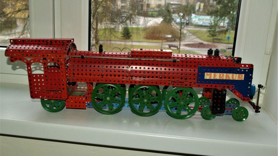 Lokomotiva v Muzeu stavebnice Merkur v Polici nad Metují