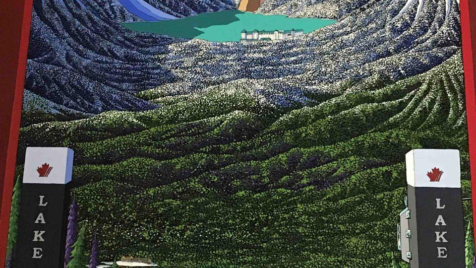 Lake Luise z pohledu lyžaře