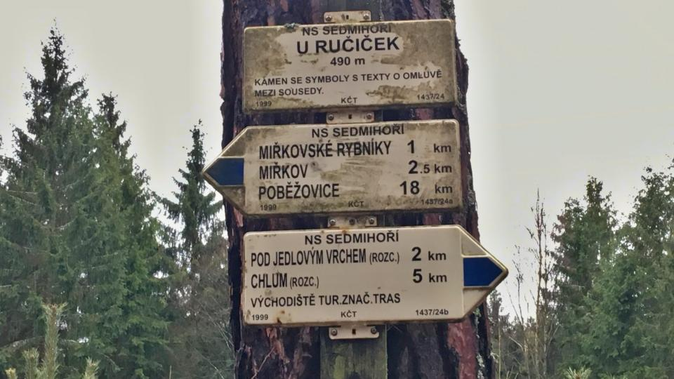 Rozdělovník Klubu českých turistů je poblíž