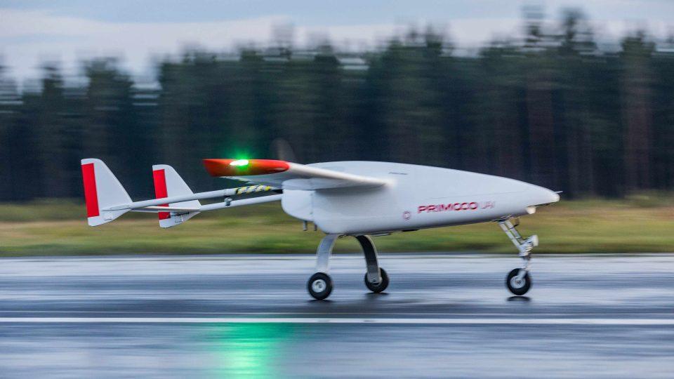 Přistání bezpilotního letadla