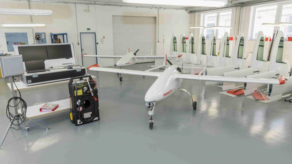 Hala firmy Primoco UAV v pražském Radotíně
