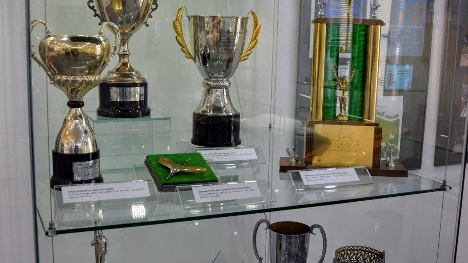 Trofeje Jiřího Rašky v expozici frenštátského muzea