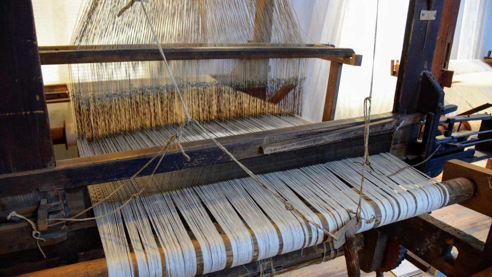 Expozice tkalcovství ve frenštátském muzeu