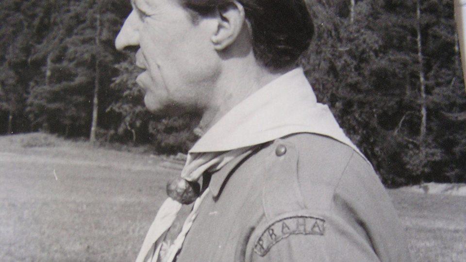 Eduard Marek jako vedoucí ve skautské uniformě