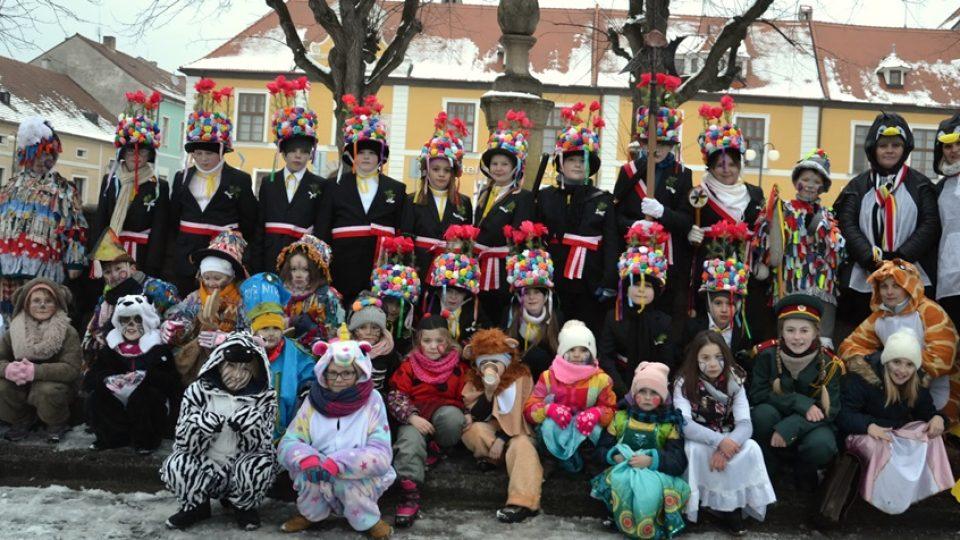 Dětský masopustní průvod v Nových Hradech