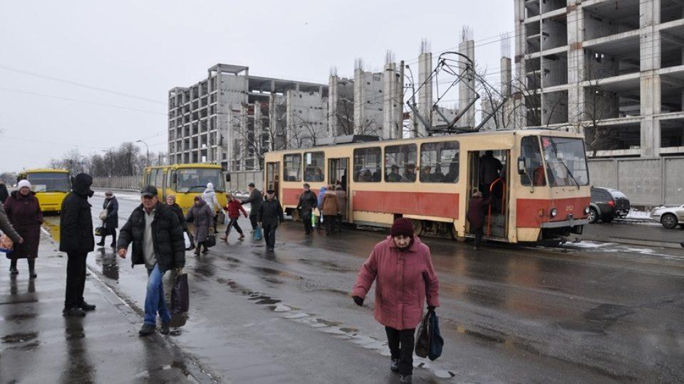 Budova nádraží v kyjevské čtvrti Darnica dnes
