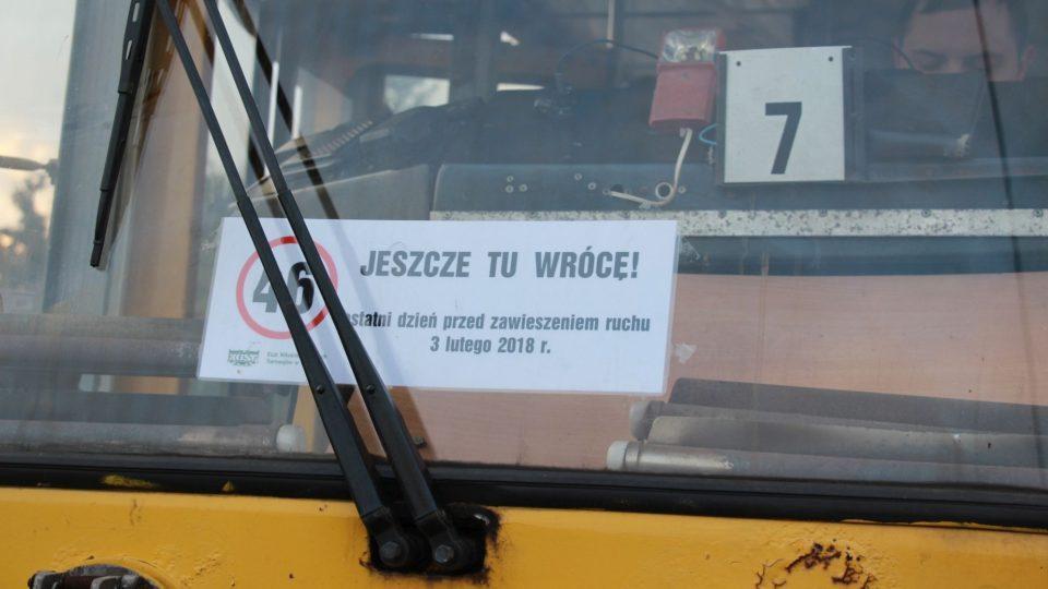 Ještě se vrátím, věří fanoušci končící tramvajové linky