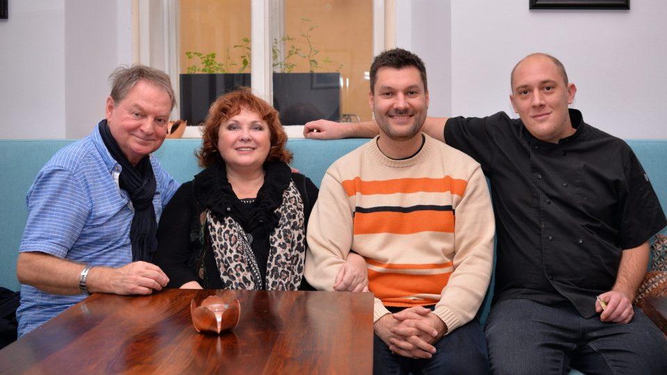 Petr Jančařík, Naďa Konvalinková, Patrik Rozehnal, Thomas Venel