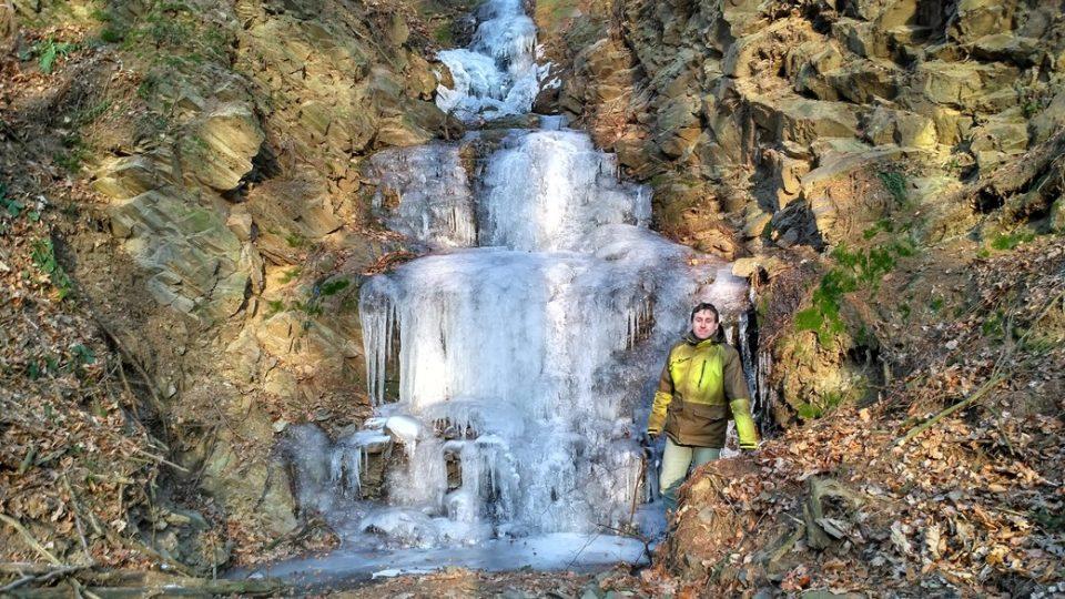 Ledopád nad Lipovcem má asi deset metrů na výšku