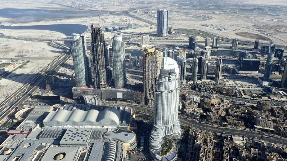 Pohled na Dubaj z nejvyššího mrakodrapu světa